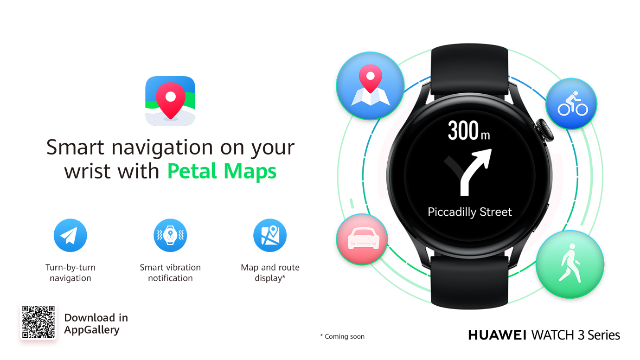 Huawei's Petal Maps now available on Watch 3 Series
