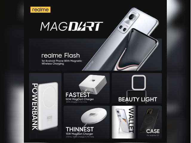 Realme unveils MagDart wireless charger